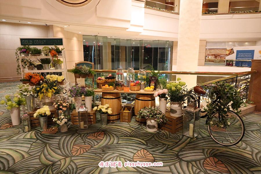 黃金海岸酒店絲花擺設佈置