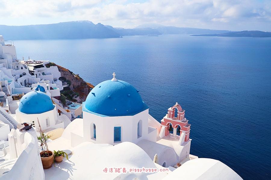 希臘 聖托里尼 Oia 藍白教堂